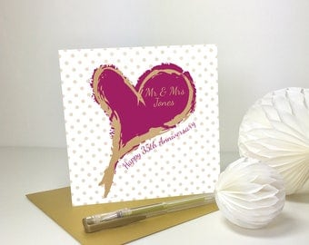 Wedding Anniversary Card -GC018
