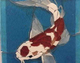 Koi Fish Stained Glass Mosaic