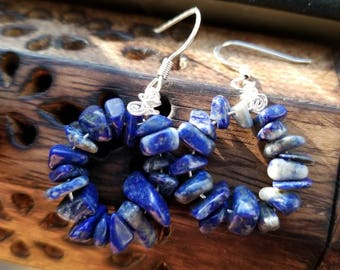 SALE!!!! Lapis Lazuli Chip Earrings for Wisdom, Guidance, and Enlightenment