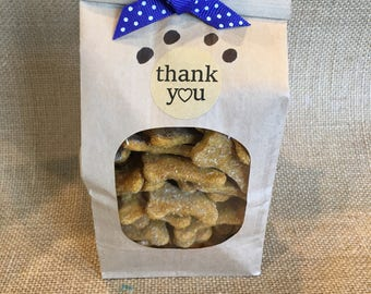 Homemade peanut butter and pumpkin dog biscuits **mini bones**