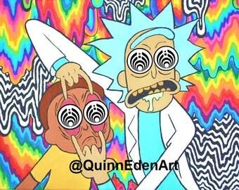 Bassnectar x Rick and Morty Bass Drop Sticker
