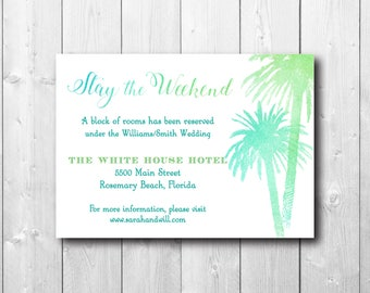 Accommodations Insert Card to Match Save the Date/DIGITAL FILE/printable/can be any size