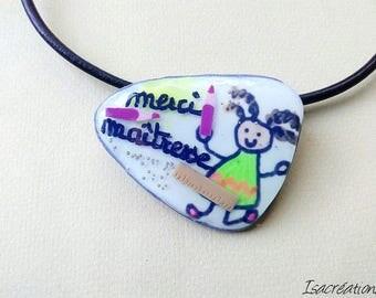 Necklace brooch purple centerpiece thanks