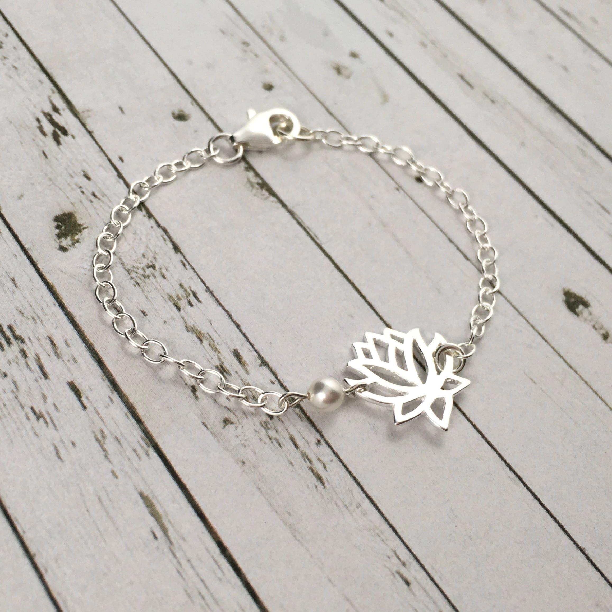 Lotus bracelet lotus flower jewelry sterling silver dainty bracelet lotus bracelet lotus flower jewelry sterling silver dainty bracelet lotus flower bracelet izmirmasajfo Images
