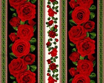 Glamour Roses Striped / custom fabric