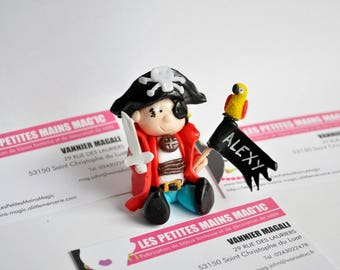 small will be a magnificent pirate red cake or other customizable