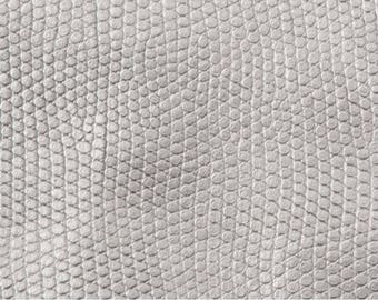 Snakeskin Fabric: Metallic Silver