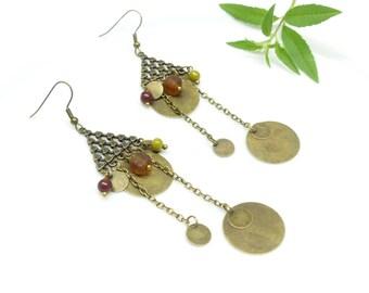 Hippie Chic earrings ~. ~ Triangle Sillin ~. ~