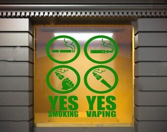 Wall Window Decal Sticker Vape Shop Vaping Vape Store Logo 1812t