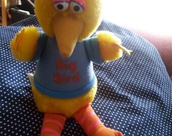 Vintage sesame street big bird toy