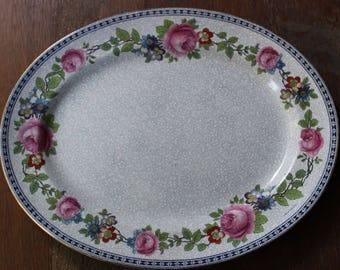 "Vintage Victorian Edwardian Era China FURNIVALS LIMITED 14"" Oval Platter Serving Tray 1522b c1890-13"