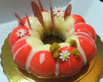 Flower Red Cake