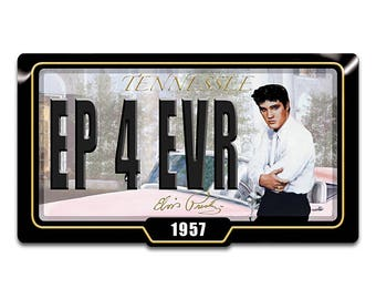 Elvis Presley Memphis Dreams Collector license plate by The Bradford Exchange