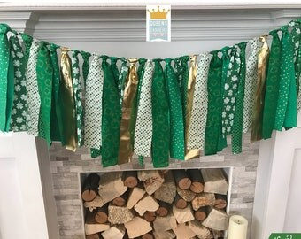 St. Patricks Day garland, St. Patricks Day decor, Holiday garland, Holiday Decor