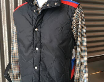 Vintage 1970s Sigallo Ski Puff Vest L