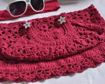 Cotton, linen, viscose hand crocheted summer dress