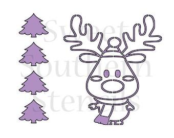 Reindeer PYO Cookie Stencil