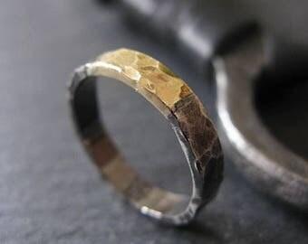 Mens Wedding Bands Mens Wedding Band Mens Wedding Ring Black Gold Ring Rustic Mens Wedding Band Viking Wedding Ring Unique Mens Wedding Band