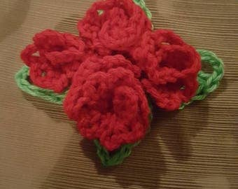 Crochet Roses Center Piece
