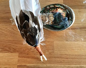 Home Cleansing Duck Feather Smudge Fan