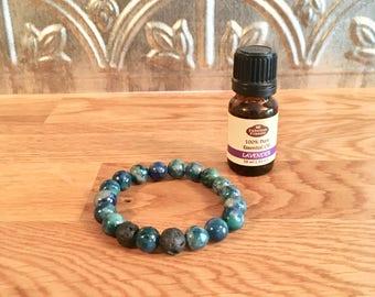 Green Quartzite Essential Oil Bracelet
