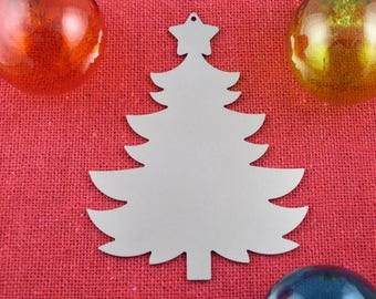Tree Shaped Christmas Ornament, Stainless Steel, Christmas Ornaments, Christmas Decoration, Tree Ornament, Christmas Decor, Ornament