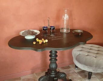 """Table violonnée ancienne à plateau basculant, """"Mathilde"""" - Pièce unique"""