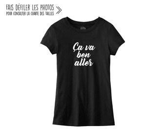 Ça va ben aller.Women Fitted Tshirt.Petite Gazelle Atelier