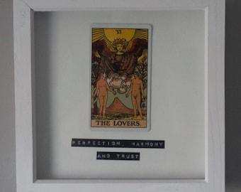 Framed tarot art The lovers