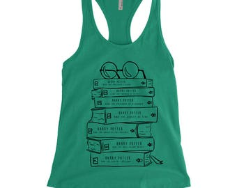 Harry Potter Book Lovers, Stack of Books Tank, Harry Potter series