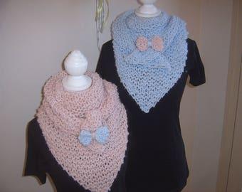 Trendy shawl handmade pastel pink