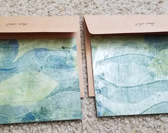Set of Two Handmade Cards with Envelopes