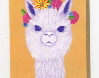 Alpaca Flower Crown