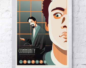 Community (Greendale college) TV poster - Troy and Abed