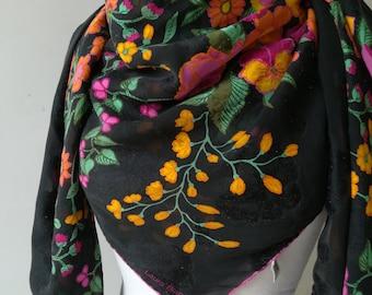 Shawl Scarf Flowers