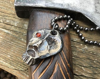 Blacksmith hand forged  talisman necklace