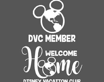 Disney Vacation Club Decal, DVC Car Decal, Disney Vacation Club Sticker, DVC Sticker, Disney Car Decal, Disney DVC Decal, Disney Decal