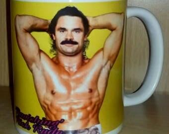 Retro Nostalgic 'Ravishing' Rick Rude Wrestling Ceramic Coffee Mug Cup