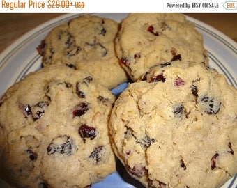 ON SALE: Delicious Homemade Oatmeal Raisin Cranberry Cookies (18 Cookies)