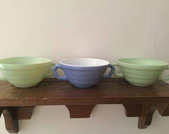HAZEL ATLAS Sugar Bowls    Moderntone Platonite Sugar Bowls   Choose your color