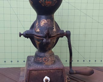 Antique 1850's Enterprise Coffee Grinder No. 1 - Original  paint and decals