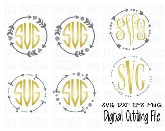 Arrow Monogram Frame Svg Cutting File Set, Arrow Frame Svg Digital Design Cutting files for Silhouette, Cricut and more! Svg Dxf Eps Png