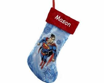 Personalized Superman Christmas Stocking