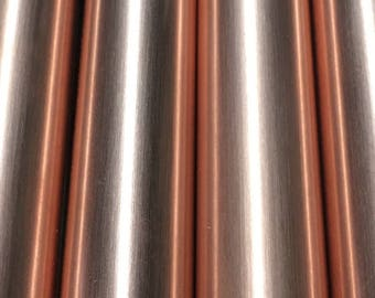 Wind chimes in polished copper