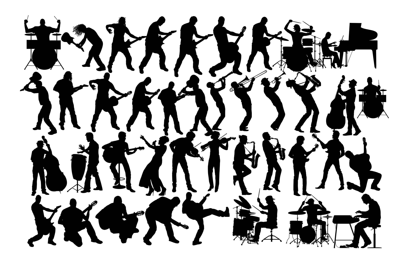 music silhouette  rock band silhouette  musician female guitar player clipart female guitar player clipart