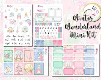 Winter Wonderland - Mini Kit - Fantasy, Christmas, Weekly Sticker Kit. Planner stickers for ECLP, Happy Planner, Personal Planner, TN etc