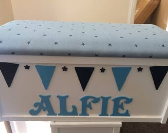 Wooden toy box. Toy storage. Dressing up box. Wooden Personalised toy storage box. Toy chest. Toy storage crate.