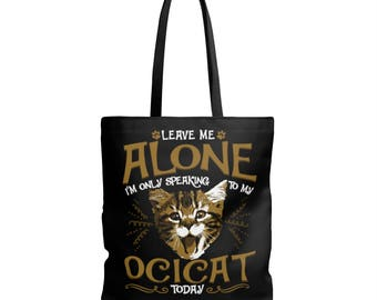 Ocicat Cat Pet Kitty Animal Funny Gift Aop Tote Bag