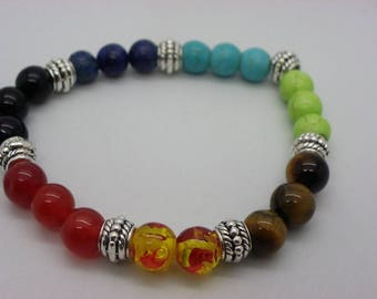 Bracelet with the 7 chakras gemstones with the energy of these stones on your health