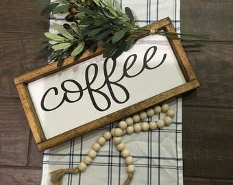 Coffee sign 15x 7